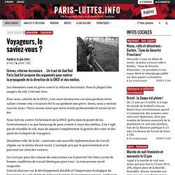 Voyageurs, le saviez-vous ? - Paris-luttes.info