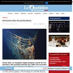 Un voyagiste anglais propose de visiter l'épave du Titanic