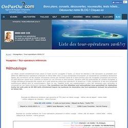Voyagistes / Tour-operateurs TO référencés par l'agence de voyages OnParOu.com