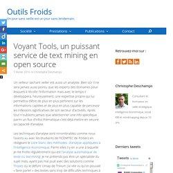 Voyant Tools, un puissant outil de text mining open source