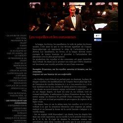 - les voyelles et les consonnes - cours de chant à Paris