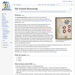 The Voynich Manuscript - Wikibooks, collection of open-content t