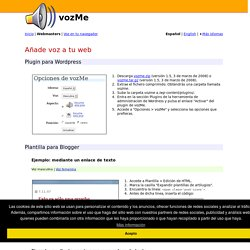 Añade voz a tu web - Text to speech