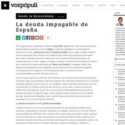 La deuda impagable de España