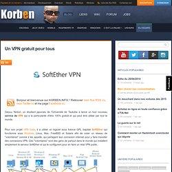 Un VPN gratuit pour tous