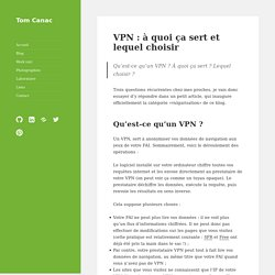 VPN :à quoi ça sert et lequel choisir