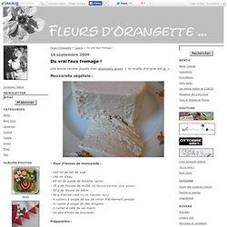 Du vrai faux fromage ! - Fleurs d'Orangette