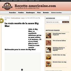 La vraie recette de la sauce Big Mac - Recette Américaine