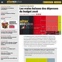 Les vraies baisses des dépenses du budget 2016.