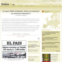 Attentats du 11 mars 2004 à Madrid