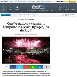 Quelle nation a vraiment remporté les Jeux Olympiques de Rio ?