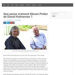 Que pense vraiment Steven Pinker de Daniel Kahneman ? -