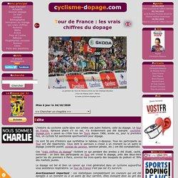 Les vrais chiffres du dopage dans le Tour de France