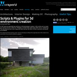 VrayWorld - Scripts & Plugins for 3d environment creation