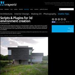 VrayWorld - Scripts & Plugins for 3d environment creation
