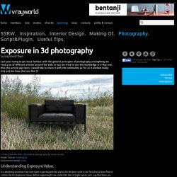 VrayWorld - Exposure in 3d photography