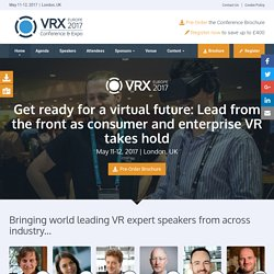 Sponsorship // VRX Europe 2017 // May 11-12, 2017 // London, UK