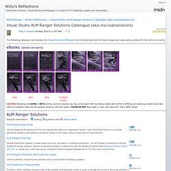 Visual Studio ALM Rangers catalogue de solutions (aka.ms / vsarsolutions) - Les réflexions de Willy
