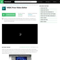 VSDC Free Video Editor - Free download and software reviews - CNET Download.com