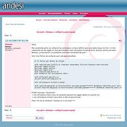ANDESI / vsftpd & pam-mysql