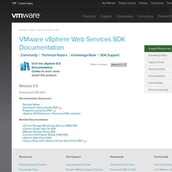 vSphere Web Services SDK Documentation