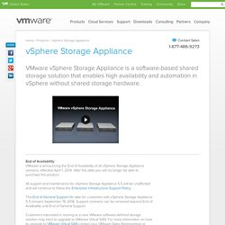 VMware vSphere Storage Appliance (VSA) for Shared Storage