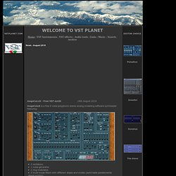 VST Plugins Free - Virtual instruments and effects