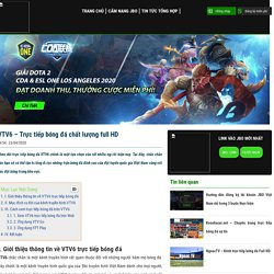 VTV6 - Trực tiếp bóng đá chất lượng full HD
