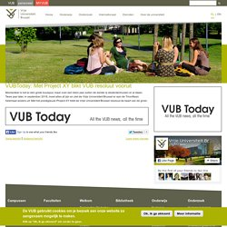 VUBToday: Met Project XY blikt VUB resoluut vooruit