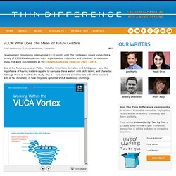 VUCA: What Does This Mean for Future Leaders