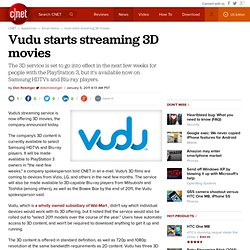 CES: Vudu to start streaming 3D movies
