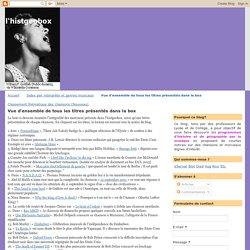 l'histgeobox: Vue d'ensemble de tous les titres présentés dans la box
