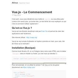 Vue.js - Le Commencement · Atinux