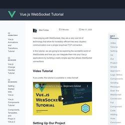 Vue.js WebSocket Tutorial