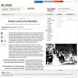 Ocaña vuelve a las Ramblas · ELPAÍS.com