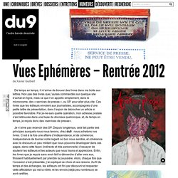 Vues Ephémères – Rentrée 2012