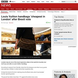 Louis Vuitton handbags 'cheapest in London' after Brexit vote