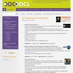 507 Vulgarisation scientifique - Doc pour docs