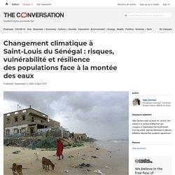 Changement climatique à Saint-Louis duSénégal: risques, vulnérabilité etrésilience despopulations face àlamontée deseaux