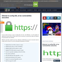 Détecter la config SSL et les vulnérabilités associées