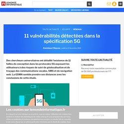 11 vulnérabilités détectées dans la spécification 5G