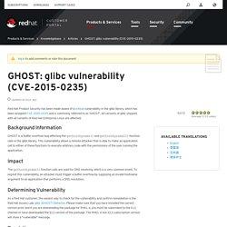 GHOST: glibc vulnerability (CVE-2015-0235)