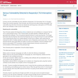 Serious Vulnerability Detected in Kaspersky TLS Interception Tool
