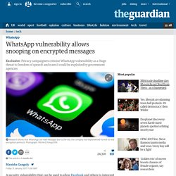 WhatsApp backdoor allows snooping on encrypted messages