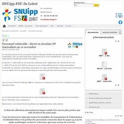 Personnel vulnérable : décret et circulaire FP réactualisés au 10 novembre - SNUipp-FSU du Loiret