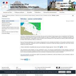 Nitrates - zones vulnérables / Protection de l'eau / Gestion de l'eau / Cadre de vie, environnement et risques majeurs / Politiques publiques / Accueil - Les services de l'État dans les Pyrénées-Atlantiques