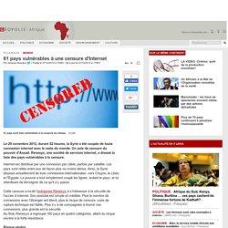 61 pays vulnérables à une censure d'Internet