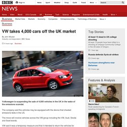 VW takes 4,000 cars off the UK market - BBC News