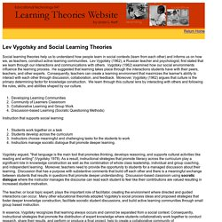 Lev Vygotsky and Social Learning Theories