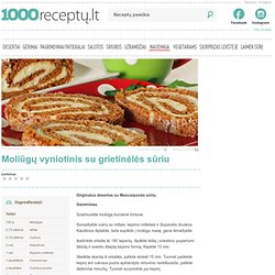 Moliūgų vyniotinis su grietinėlės sūriu - 1000receptu.lt